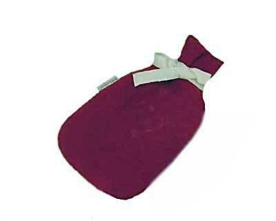 Wollen overtrek - klein; aubergine